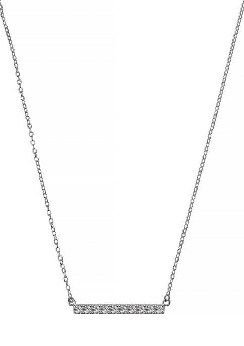 Belk Silverworks Silverworks Sterling Silver Bar Pendant Necklace