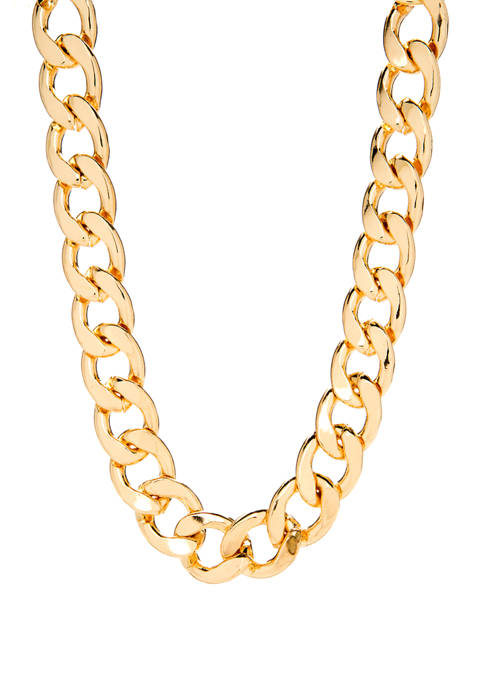 Crown & Ivy™ Gold Tone Chain Metal Necklace