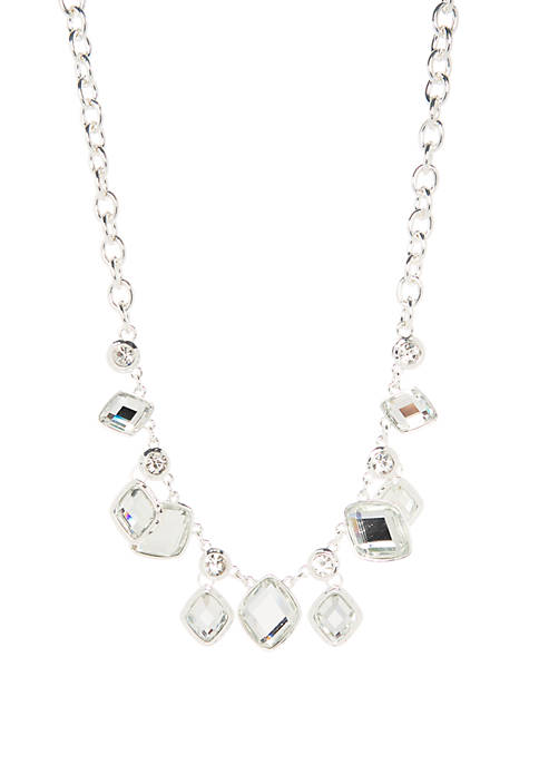 Stone Drop Frontal Necklace