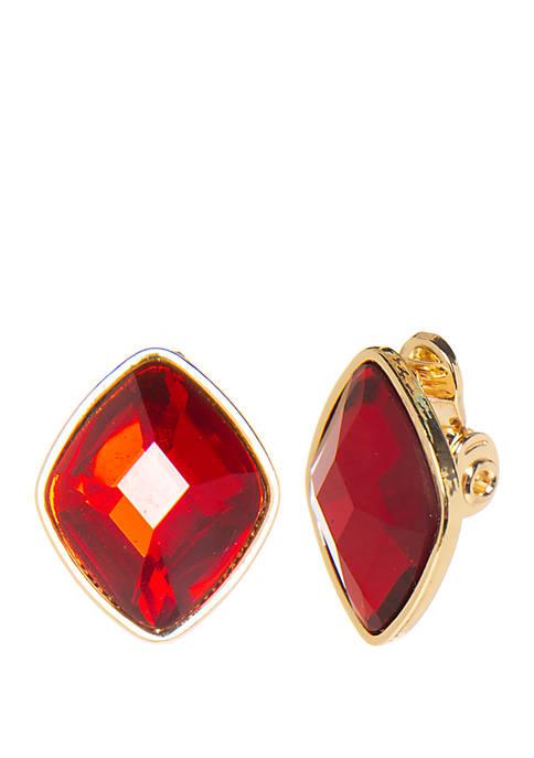 Kim Rogers® Stone Button Earrings