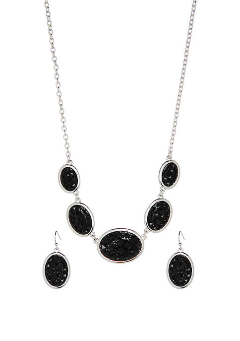 3 Piece Drop Necklace and Earring Set
