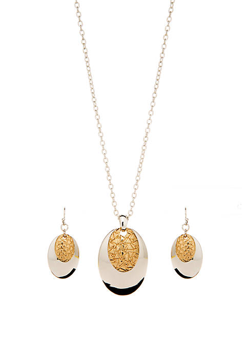 Kim Rogers® Two Toned Layered Pendant Drop Earring