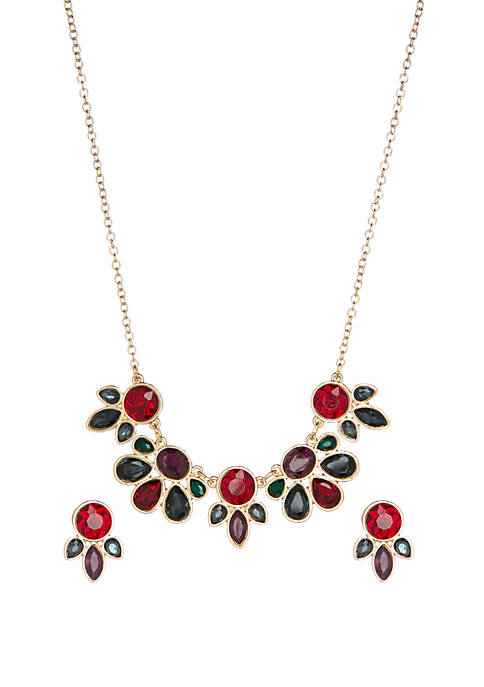 Kim Rogers® Boxed Multi Hued Frontal Necklace and
