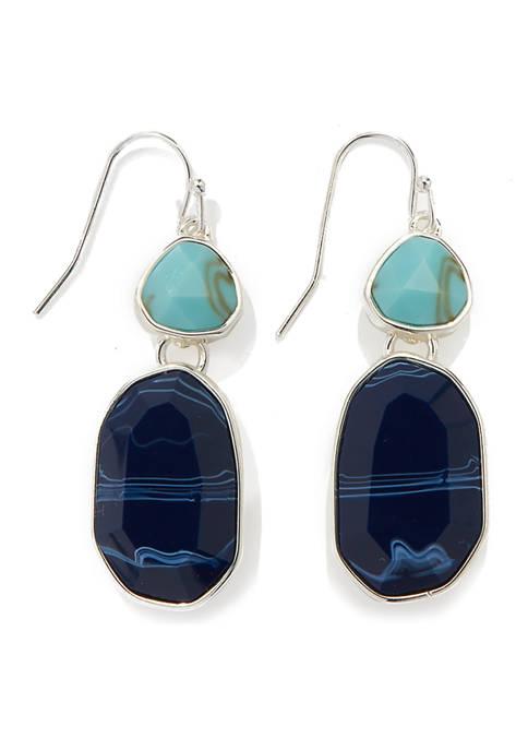 Double Drop Fishook Earrings
