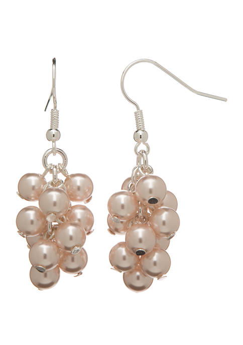 Belk Silver Tone Pearl Cascade Drop Earrings