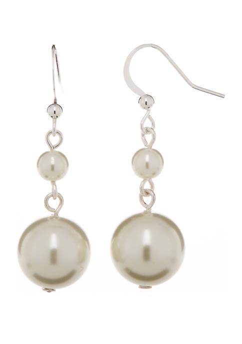 Kim Rogers® 14 Millimeter White Tonal Silver Drop