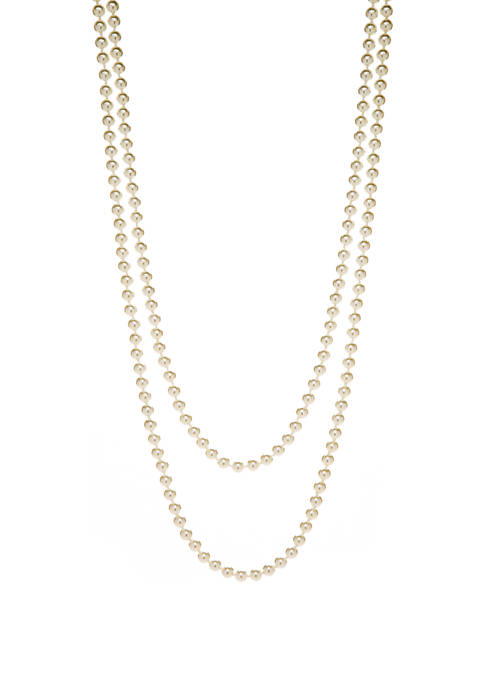 72 Inch White Pearl Necklace