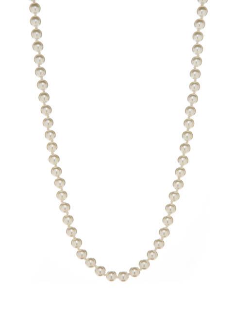 Kim Rogers® 18 Inch White Pearl Silver Tone