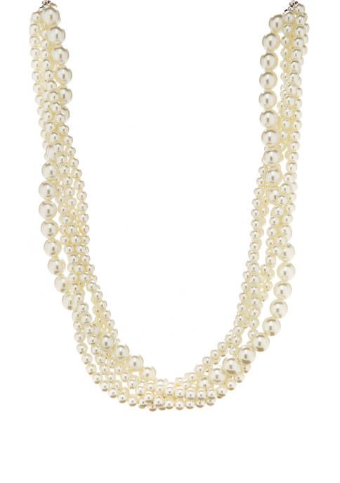 Kim Rogers® 18 Inch Multi Strand Pearl Necklace