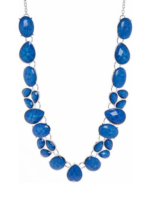Kim Rogers® 16 Inch Multi Stone Collar Necklace