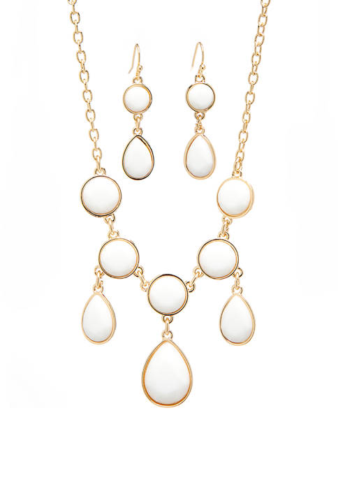 Kim Rogers® Gold Tone Droopy Frontal Necklace and