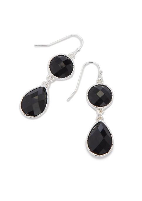 Kim Rogers® Silver Tone Double Drop Earrings