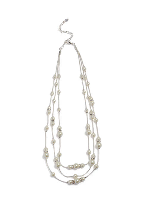 22 Inch Pearl Chain Necklace