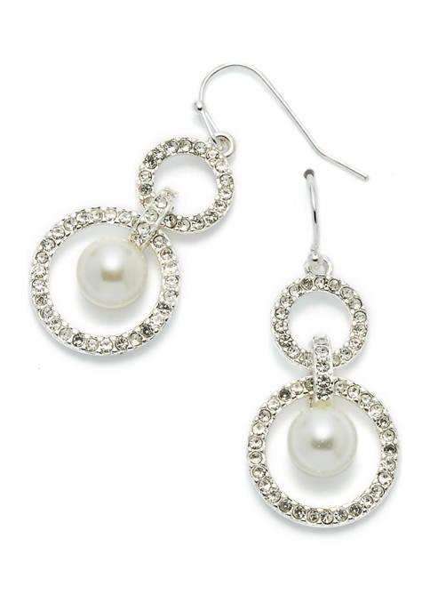 Pearl Orbital Double Drop Earrings