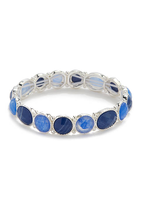 Small Stone Stretch Bracelet