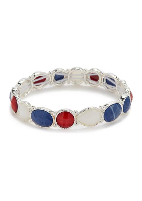 Kim Rogers® Small Stone Stretch Bracelet