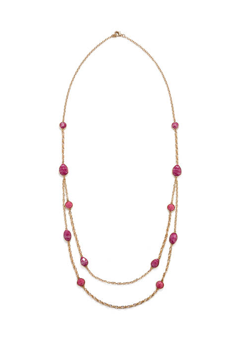 Kim Rogers® Long Multi Row Chain Necklace