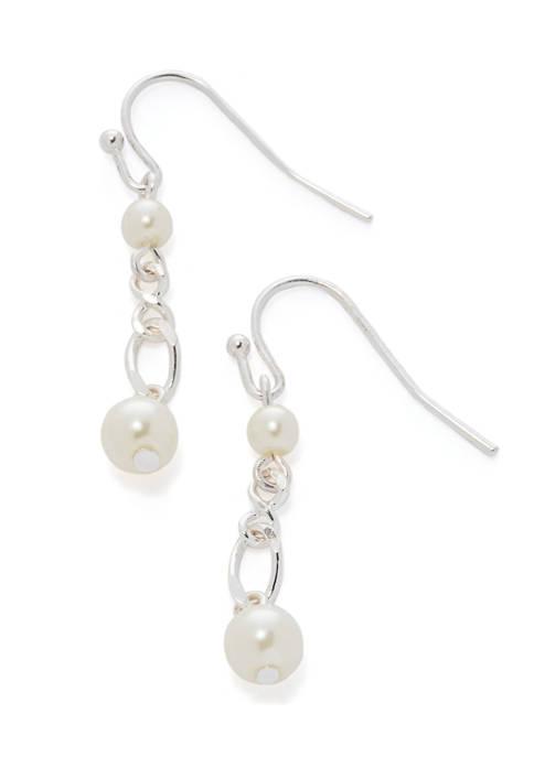 Linear Pearl Earrings