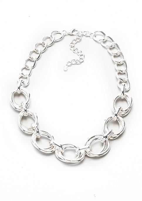 Kim Rogers® 16 Inch Silver Tone Link Collar
