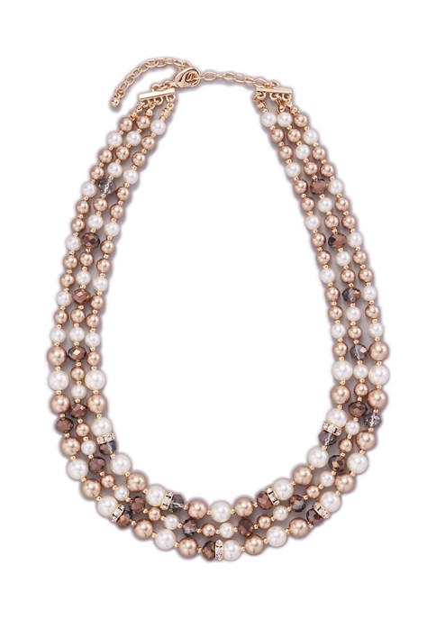 Kim Rogers® Gold Tone 17 Inch Pearl and