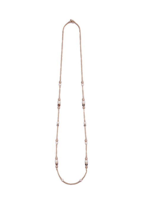 Kim Rogers® Gold Tone 42 Inch Pearl and