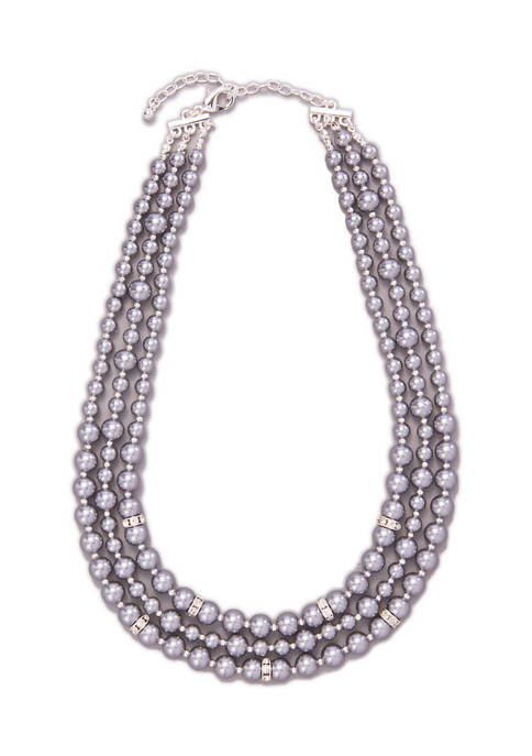 Kim Rogers® Silver Tone 17 Inch Pearl and