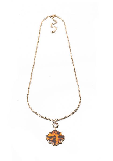 Kim Rogers® 36 Inch Gold Tone Tortoise Beaded