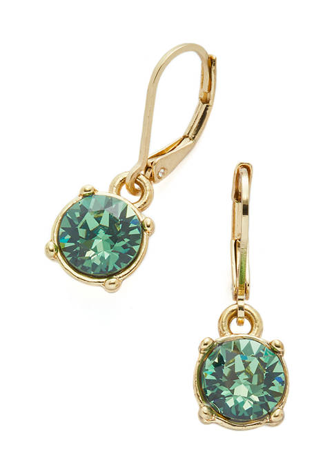 Kim Rogers® Swarovski® Erinite Gold-Tone Drop Earrings