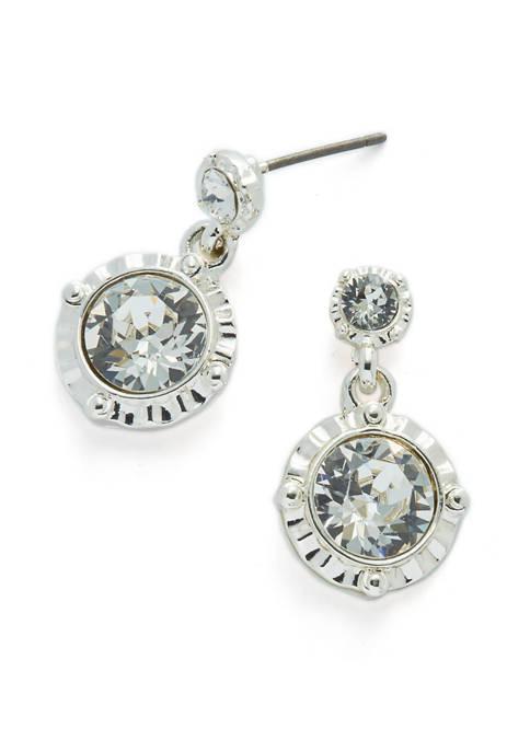 Kim Rogers® Swarovski® Fancy Silver-Tone Drop Earrings