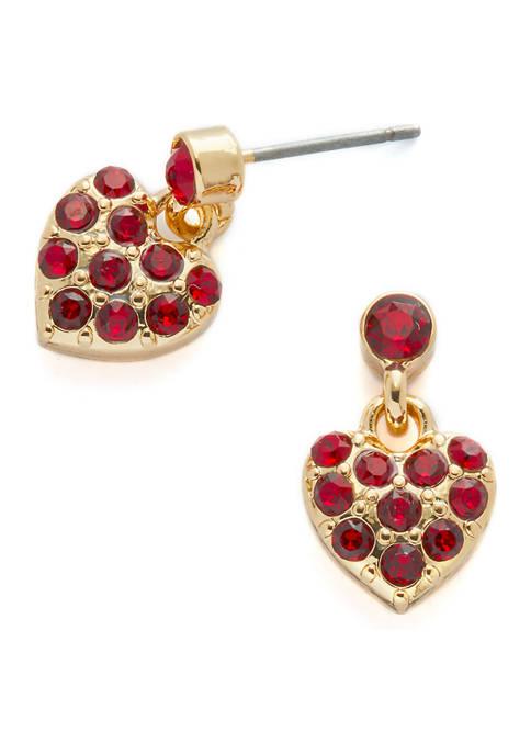 Swarovski® Pavé Heart Dangle Earrings
