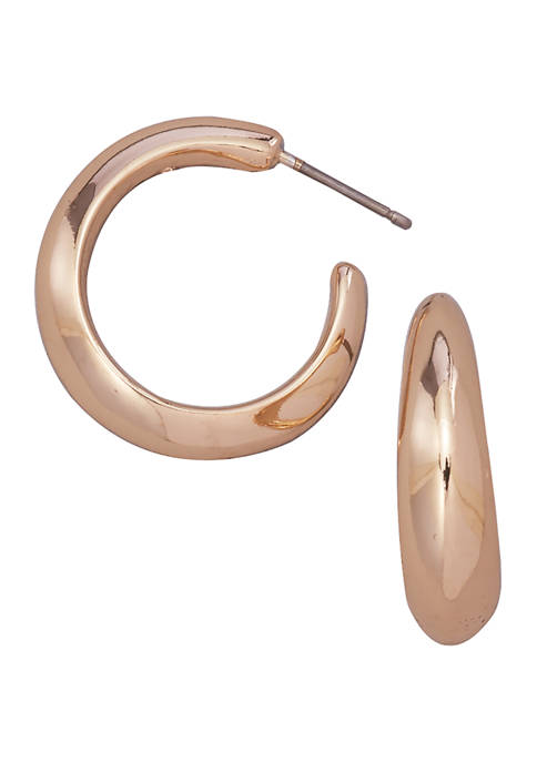 Kim Rogers® Gold Tone C Hoop Earrings