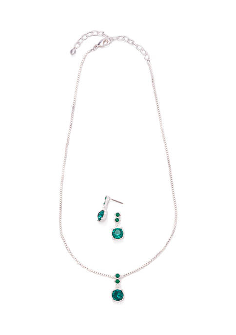 Swarovski Crystal Earring and Necklace Set