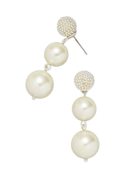 Kim Rogers® Silver Tone Linear Post Earrings