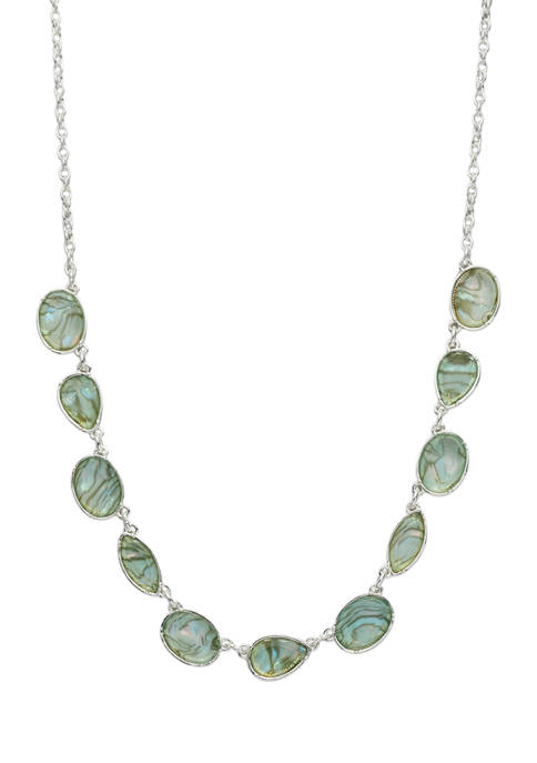 Kim Rogers® Silver Tone Blue Multi Frontal Necklace