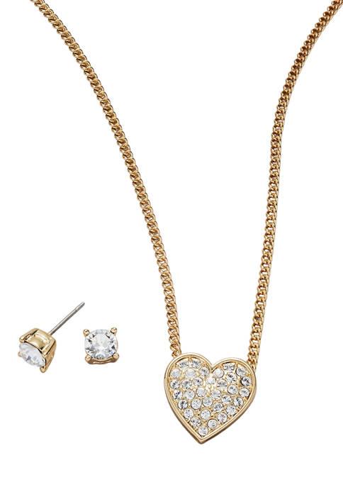 Kim Rogers® Gold Tone Crystal Swarovski® Pavé Heart