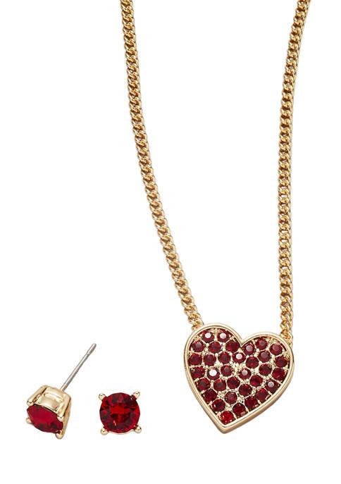 Kim Rogers® Gold Tone Siam Swarovski® Pavé Heart