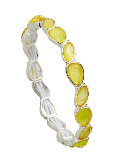 Kim Rogers® Silver Tone Yellow Stretch Bracelet
