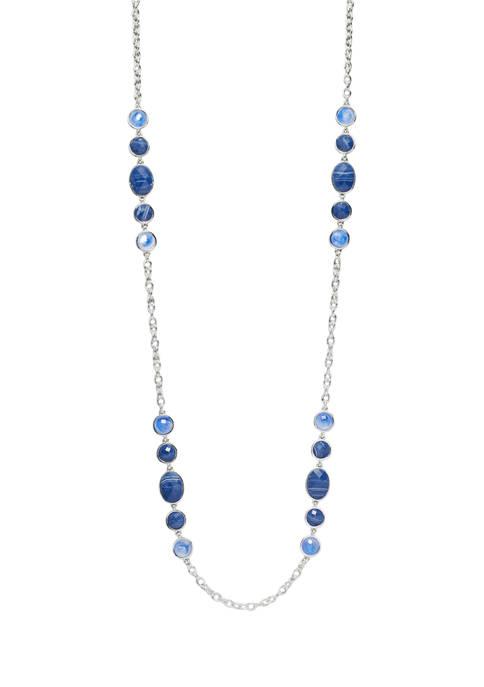 Kim Rogers® Silver Tone Blue Multi 36 Inch