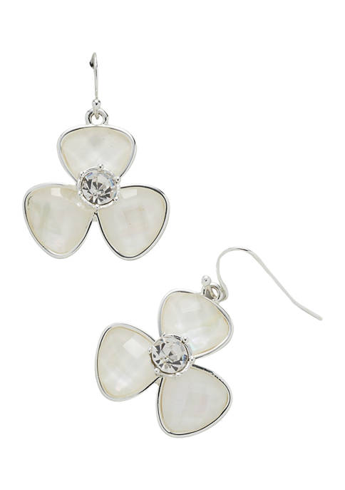 Kim Rogers® Silver Tone Mother of Pearl Fishhook