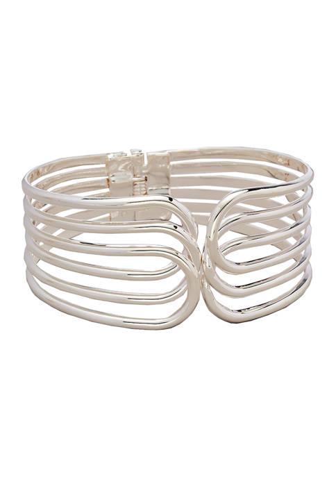 Kim Rogers® Silver Tone Multi Hinge Bangle Bracelet