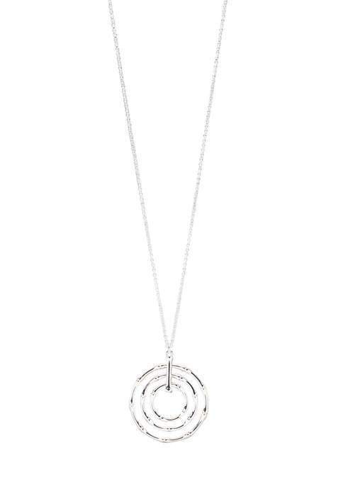 Kim Rogers® Silver Tone 36 Inch Bamboo Pendant
