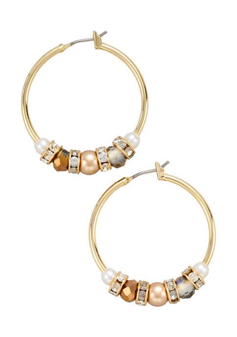 Kim Rogers® Gold Tone Champagne Pearl Crystal 30
