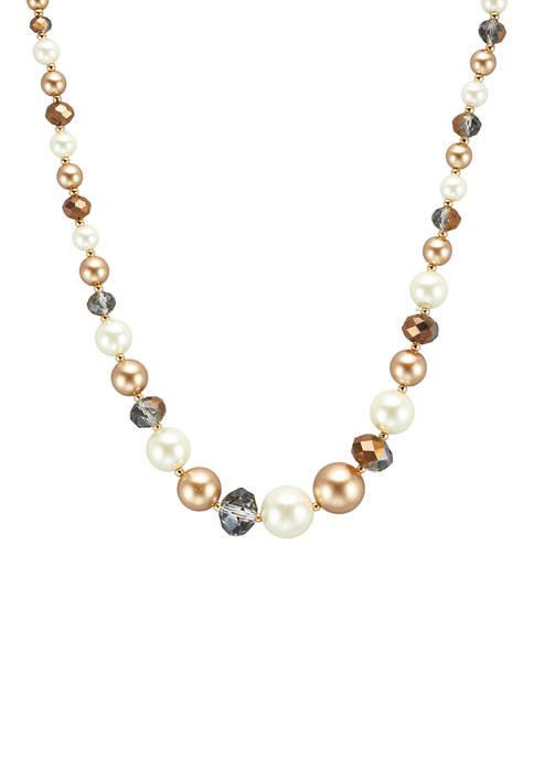 Kim Rogers® Gold Tone Champagne Pearl Multi 16+3