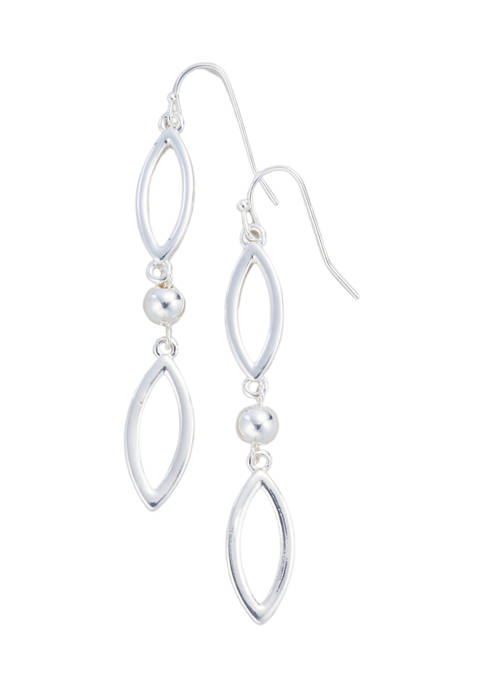 Kim Rogers® Silver Tone Open Navette French Wire