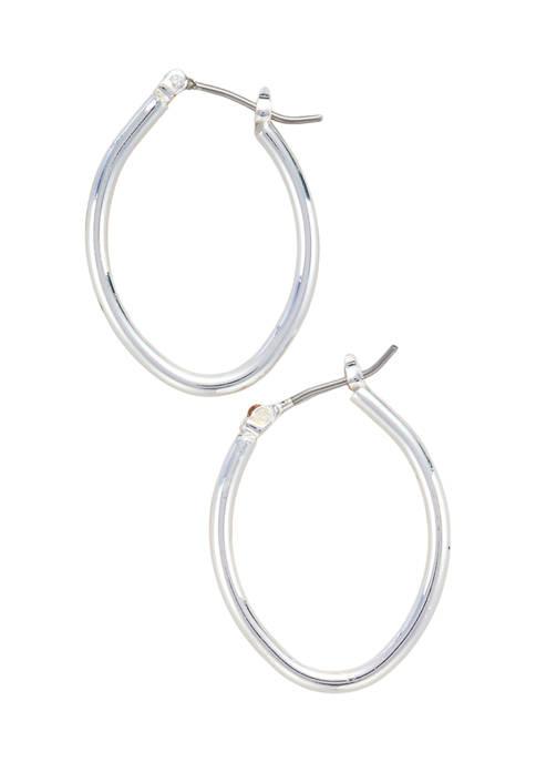 Kim Rogers® Silver Tone Click Top Thin Oval