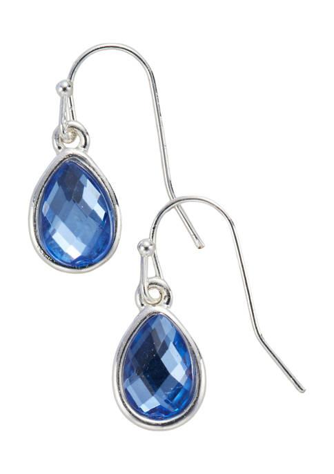 Kim Rogers® Silver Tone Denim Blue French Wire