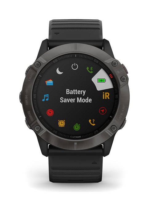 Fenix 6x Carbon Gray Sapphire Watch