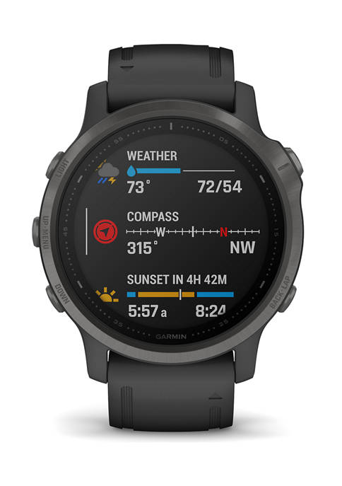 Fenix 6s Carbon Gray Sapphire Watch