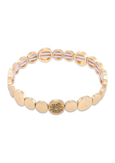 Chaps Two-Tone Circle Stretch Bracelet