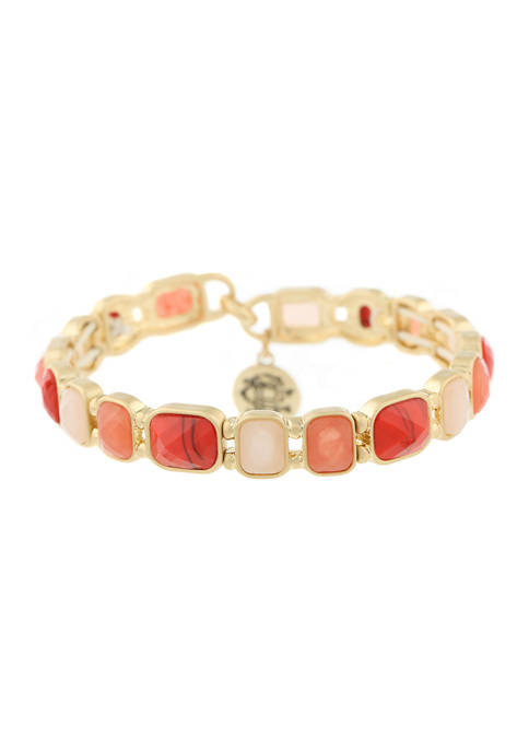 Chaps Gold Tone Coral Small Stretch Bracelet